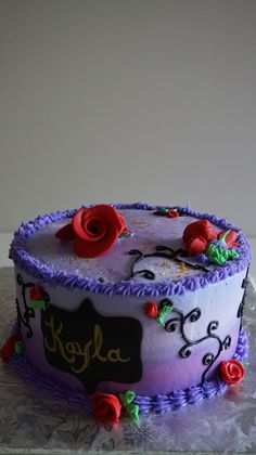 Chocolate and pear crumble cake - HQ Recipes 2 Birthday, 10th Birthday Parties, Birthday Ideas, Unicorn Birthday, Decendants Cake, Bday Girl, Halloween Cakes, Girl Cakes, Fancy Cakes
