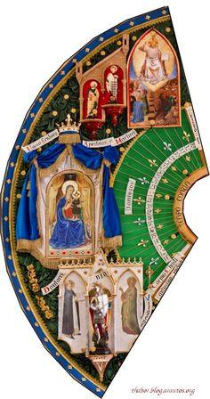Detalhe em foto: Quadro do Ciclo litúrgico anual ( Tempo Comum )