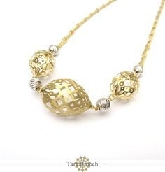 Gold cage necklace