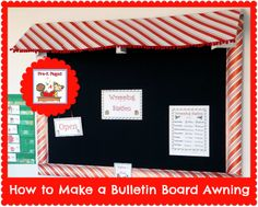 How to Make a Bulletin Board Awning for Your Classroom #DIY #tutorial