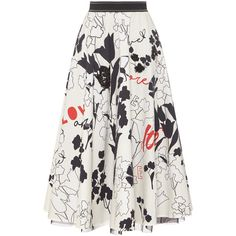 WEEKEND MAX MARA Urna Love Graffiti Skirt ❤ liked on Polyvore featuring skirts, patterned midi skirt, floral a line skirt, print midi skirt, a line midi skirt and patterned skirts