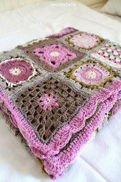 son feins Dekoblog:. patchwork crochet - Grannys * manta de ganchillo sin 3