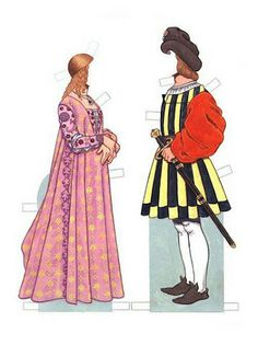 we should figure out how to make these for faire......Italian Renaissance Paper Dolls   Gabi's Paper Dolls