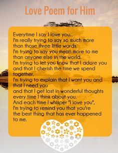 new Love Poem - Every time I say I love u