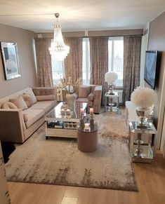 78 very cozy and practical decoration ideas for small living room page 35 Glam Living Room, Living Room Decor Cozy, Living Room Goals, Beige Living Rooms, Living Room Inspiration, Home Decor Inspiration, Decor Ideas, Small Living, Home And Living