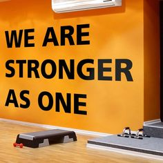 We Are Stronger As One, Gym Decals, Fitness, Gym Walls, Wall Decal, Wall Decor, Vinyl, Wall Art, Gym Art, Wall Sticker, Decals, Gift, Gym Wall Sticker, Wall Decals, Vinyl Decals, Wall Art, Gym Decor, We Are Strong, New Wall, Textured Walls, How To Apply
