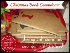 Unwrap and read a book each day to countdown to Christmas! (Coolest Family on the Block) #advent #traditions