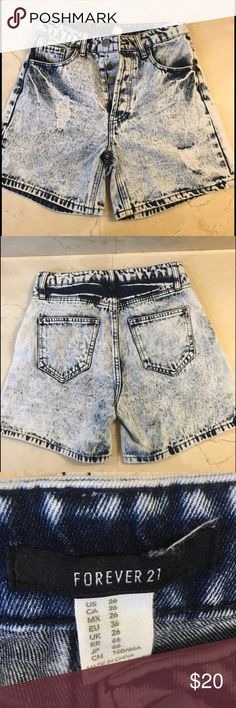 Forever 21 Super Hight Waisted Shorts Acid Wash Shorts!!! Forever 21 Shorts Jean Shorts