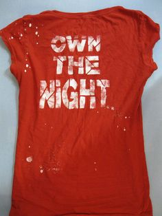 OWN THE NIGHT Outdoor Library Program for Teens - T-Shirt Stencil