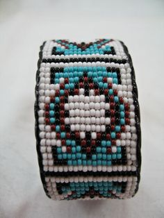 Native American Indian Style Loom beaded Cuff by TimmieLittle, $18.00