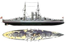 Szent István was a Tegetthoff-class dreadnought of the Austro-Hungarian Navy, the only one built in the Hungarian part of Austria-Hungary. The Ganz & Company's Danubius Yard in Hungarian-owned Fiume (Rijeka) was awarded the contract