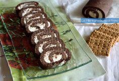 Girelle di biscotti con gelato alla panna