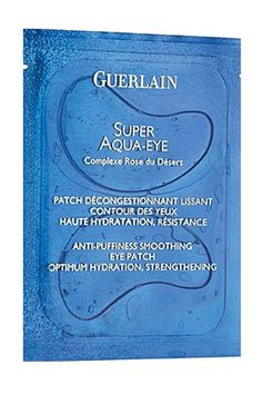 Put a sachet of these in the fridge before you go to bed, fix onto your eyes in the morning while you're getting ready and puffy eyes will be gone by the time you leave the house- genius. Guerlain Super Aqua Eye Patches, $123, nordstrom.com.    - HarpersBAZAAR.com