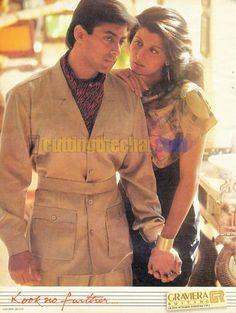 Salman Khan, Sangeeta Bijlani in Graviera Suitings Ad