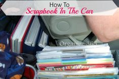 Travelling can be stressful. See Professional Organizer, Lisa Woodruff's, auto travel organization tips to make your trip a little less chaotic! Travel Scrapbook, Scrapbook Supplies, Scrapbook Paper, Disney Scrapbook, Scrapbook Organization, Travel Organization, Car Travel, Florida Travel, Travel Essentials