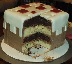 Minecraft Cake Cake by Qess.deviantart.com on @deviantART