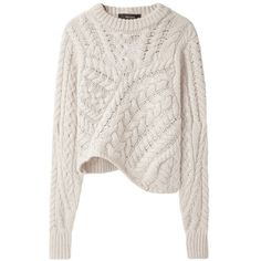 Cable Knit Sweater / Isabel Marant ❤ liked on Polyvore featuring tops, sweaters, shirts, jumpers, cableknit sweater, cable knit jumper, cable knit sweater, shirts & tops and isabel marant top