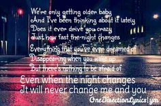 Night Changes - One Direction Lyrics from FOUR
