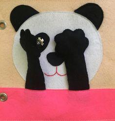 Peek-a-boo panda :)