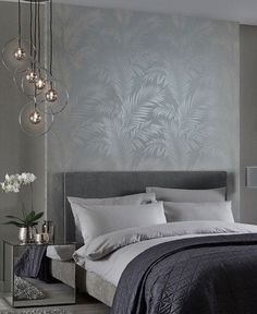 5 estilos para decorar o quarto de casal com papel de parede. Small Room Bedroom, Home Decor Bedroom, Bedroom Wall, Bedroom Colors, Bedroom Ideas, Luxury Bedroom Design, Interior Design, Luxurious Bedrooms, Metallic Wallpaper