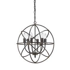 $169.99 Creative Co-Op Haven 6 Light Chandelier