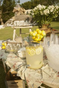 lemonade stand at wedding