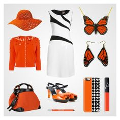 """""""Orange is the new black"""" by savousepate ❤ liked on Polyvore featuring Karen Millen, Sonia Rykiel, Caroline De Marchi, Casetify, Urban Decay and NARS Cosmetics"""