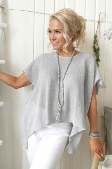 Oversize pellavaneule, LIGHT GREY