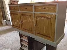 drewniana komoda sosnowa