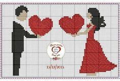 Name: Displayed times: 1163 Size: KB (Kilobyte) Cross Stitching, Cross Stitch Embroidery, Embroidery Patterns, Wedding Cross Stitch Patterns, Cross Stitch Designs, Pixel Art, Cross Stitch Silhouette, Cross Stitch Heart, Le Point