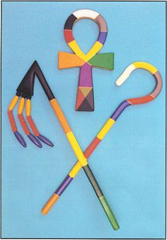 Ceremonial Magick:  #Ceremonial #Magick ~ Hermetic Order of the Golden Dawn: Ankh, crook, and flail.