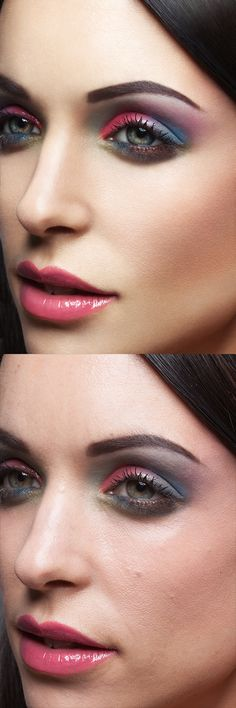 Beauty retouching by Dodge and burn equipment