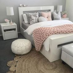"9,866 Likes, 56 Comments - Easyinterieur (@easyinterieur) on Instagram: ""BEDROOM ...another great inspo for my favorite color palette! Styled by @style.create.inspire …"""