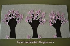 I am a huge fan of using handprints with kids to create works of art. This one is SO cute!