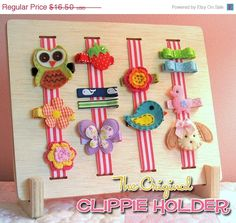 ON SALE Hair Bow Holder - Hair Clip Holder - The Original Natural Desktop Hair Clip Holder.  A Great Way To Organize.