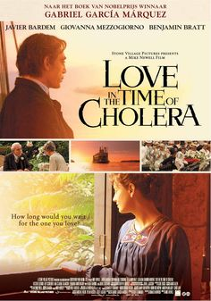 THE ULTIMATE LOVE IN THE TIME OF CHOLERA - - Gabriel Garcia Marquez's 1985 Spanish-language novel is considered a modern literary classic. It's a tale of love, lovesickness, ageing and, er, cholera, and in 2007 it was even made into an English-language film starting Javier Bardem.