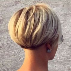 Short Blonde Bob Short Bob Hairstyles 2019 - blonds have more . F U N - Bob HairStyles Bob Haircut 2018, Pixie Bob Haircut, Pixie Bob Hairstyles, Black Hairstyles, Short Wedge Hairstyles, Short Wedge Haircut, Pixie Haircut Styles, Bob Haircut For Fine Hair, 1940s Hairstyles