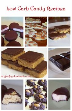 A collection of sugar free low carb candy recipes from sugarfreelowcarbrecipes.com