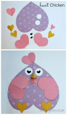 6 Heart Shaped Animals with FREE printable PDFs ~ Heart Shaped Chicken Valentine crafts for kids animals silly animals animal mashups animal printables majestic animals animals and pets funny hilarious animal Kinder Valentines, Valentine Crafts For Kids, Valentines Day Activities, Valentines For Kids, Classroom Crafts, Preschool Crafts, Kids Crafts, Preschool Education, Kids Diy
