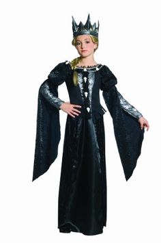 Snow White & the Huntsman Ravenna Skull Dress With Crown Tween Costume. I don't think younger kids should have been watching that film. I hear it was scary for youngers. But, in the realm of not being trashy, this works as a kid costume.