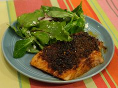 Brown Sugar Spiced Salmon recipe from Katie Lee.