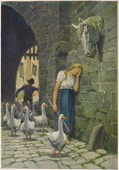 The Goose Girl -- Paul Hey -- Fairytale Illustration