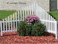 Corner picket fence for by the driveway