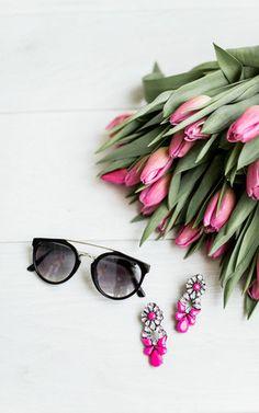 Ily Couture Anna Black Sunglasses - Grey Lenses