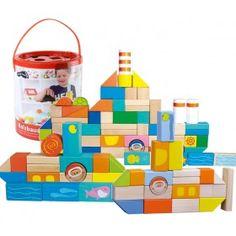 Drevené kocky s motívom vodeného sveta Atlantída sú obľúbené ako u chlapcov, tak aj u dievčatiek. Vo vedierku sú okrem klasickej drevenej stavebnice aj kocky s potlačou, pomocou ktorých dieťa ľahko poskladá, ponorku, loďku alebo vodné kráľovstvo - Atlantídu.Hrou s drevenými kockami cibrí dieťa okrem jemnej motoriky aj predstavivosť, fantáziu, logiku. Drevené kocky vhodne doplnia už zakúpené drevené stavebnice a drevené kocky.