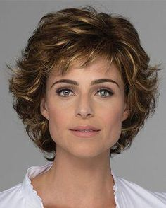 Estetica Designs Wigs Diana - All Hair Styles Curly Hair Cuts, Short Curly Hair, Wavy Hair, Curly Hair Styles, Long Hair, Perms For Short Hair, 50 Hair, Medium Curly, Short Hair With Layers