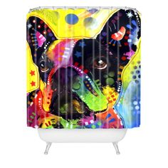 This innovative shower curtain gives a sensible essential a fabulous, artistic spin with a Dean Russo design. Buttonhole openings secure this tapestry to a shower rod for an instant gallery in the most unexpected place. Dean Russo, Shower Rod, Mid Century Modern Decor, Pet Accessories, Duvet Covers, Tapestry, Curtains, Throw Pillows, Quilts