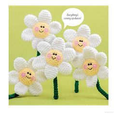 Free crochet pattern for daisy flower amigurumi Crochet Potholder Patterns, Crochet Flower Patterns, Crochet Patterns For Beginners, Amigurumi Patterns, Crochet Flowers, Crochet Daisy, Crochet Cactus, Crochet Classes, Crochet Projects