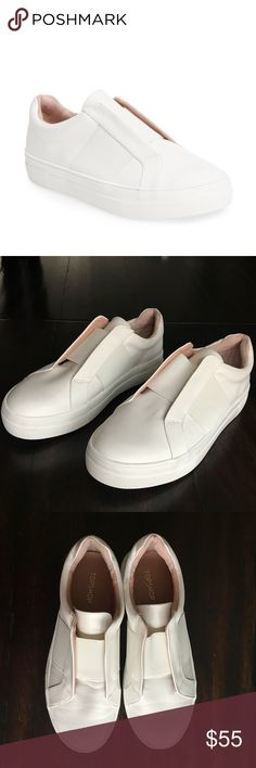 """BRAND NEW Topshop Slip-On White Sneaker - 8.5 Super rad """"Vince.-inspired"""" all white slip-on sneaker in size 39. I am typically a 9US/39EU but these were just a taaad too snug for me. Never worn before. If you're a size 8.5, these will fit you perfectly! Additional product info in the last photo :) Topshop Shoes Sneakers"""