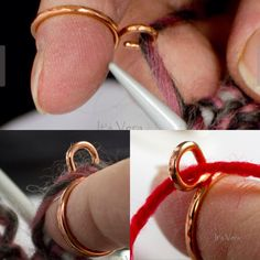 Copper knitting tool arthritis tool knitting ring gift by ItsVera